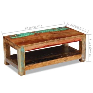 """vidaXL Coffee Table Solid Reclaimed Wood 35.4""""x17.7""""x13.8""""[8/8]"""