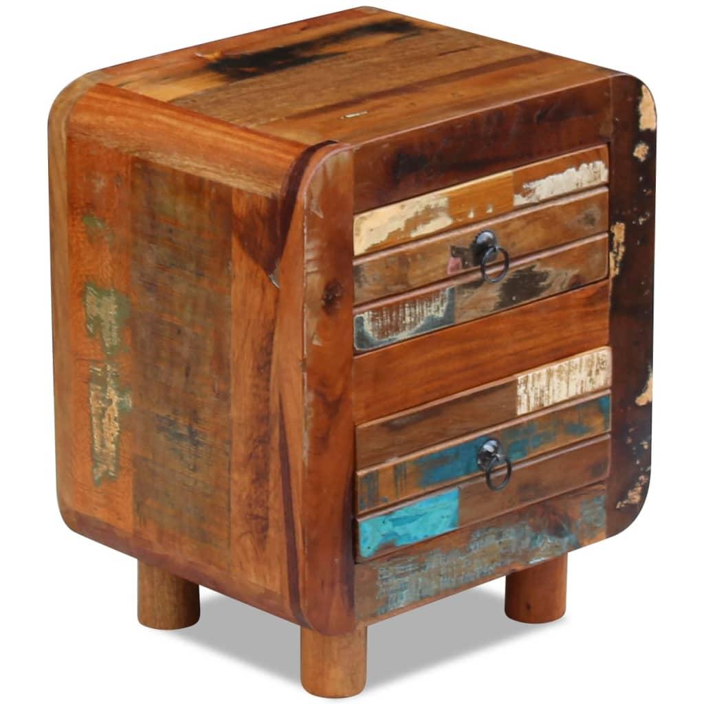 vidaXL Noční stolek z masivního recyklovaného dřeva 43x33x51 cm