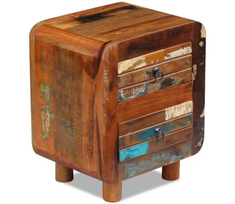 "vidaXL Night Cabinet Solid Reclaimed Wood 16.9""x13""x20""[1/9]"