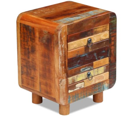 "vidaXL Night Cabinet Solid Reclaimed Wood 16.9""x13""x20""[7/9]"
