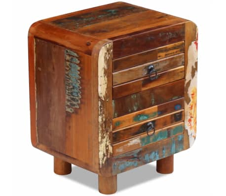 "vidaXL Night Cabinet Solid Reclaimed Wood 16.9""x13""x20""[8/9]"