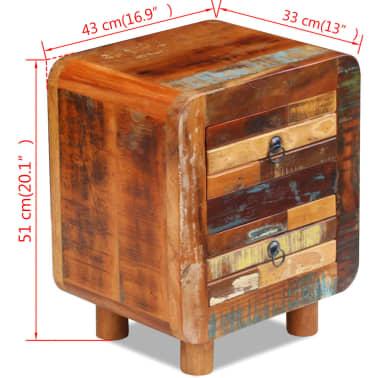 "vidaXL Night Cabinet Solid Reclaimed Wood 16.9""x13""x20""[4/9]"