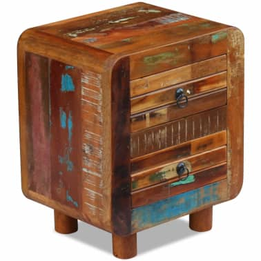 "vidaXL Night Cabinet Solid Reclaimed Wood 16.9""x13""x20""[5/9]"