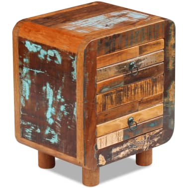 "vidaXL Night Cabinet Solid Reclaimed Wood 16.9""x13""x20""[6/9]"
