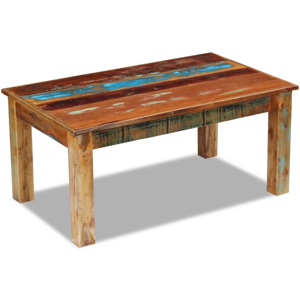 vidaXL Masă de cafea, lemn reciclat de esență tare, 100x60x45 cm poza vidaxl.ro