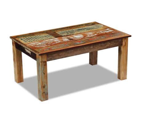 acheter vidaxl table basse 100 x 60 x 45 cm bois de r cup ration massif pas cher. Black Bedroom Furniture Sets. Home Design Ideas