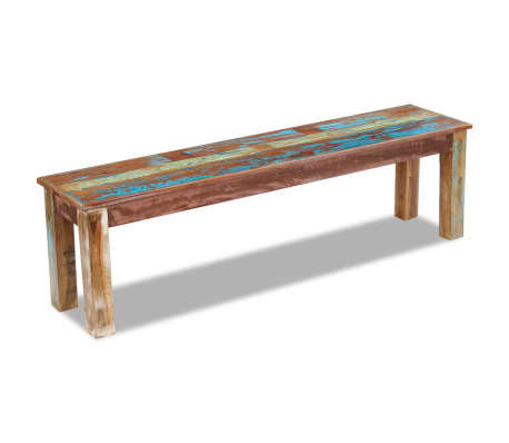 "vidaXL Bench Solid Reclaimed Wood 63""x13.8""x18.1""[1/8]"