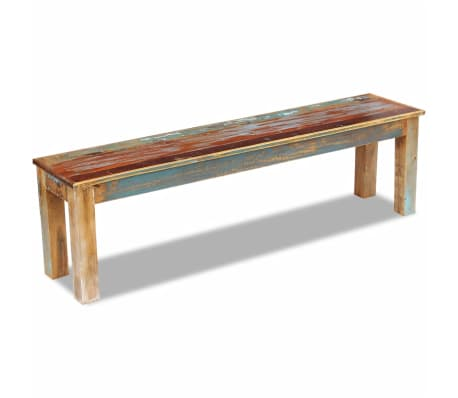 "vidaXL Bench Solid Reclaimed Wood 63""x13.8""x18.1""[4/8]"