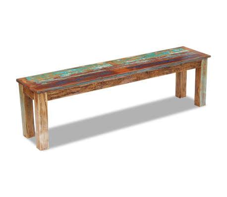 "vidaXL Bench Solid Reclaimed Wood 63""x13.8""x18.1""[5/8]"