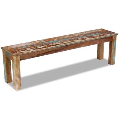 "vidaXL Bench Solid Reclaimed Wood 63""x13.8""x18.1""[2/8]"