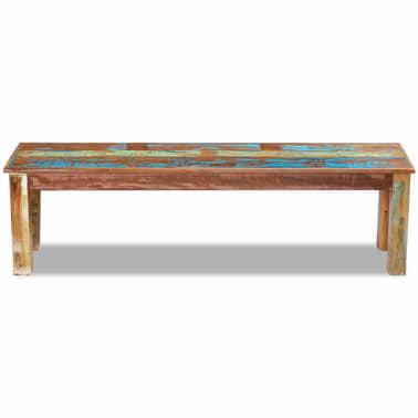 "vidaXL Bench Solid Reclaimed Wood 63""x13.8""x18.1""[6/8]"