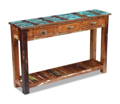 vidaXL Table console 120 x 30 x 76 cm Bois de récupération massif