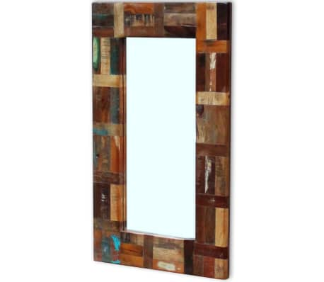 "vidaXL Mirror Solid Reclaimed Wood 31.5""x19.7""[6/7]"