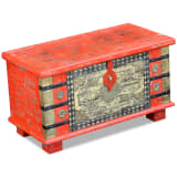 "vidaXL Storage Chest Red Mango Wood 31.5""x15.7""x17.7"""