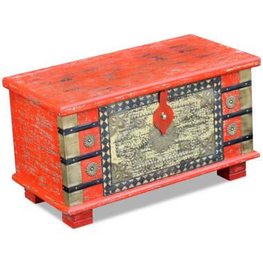 "vidaXL Storage Chest Red Mango Wood 31.5""x15.7""x17.7""[1/11]"