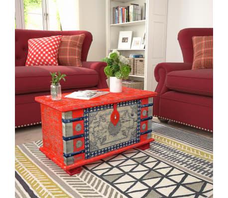 "vidaXL Storage Chest Red Mango Wood 31.5""x15.7""x17.7""[10/11]"