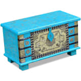 "vidaXL Storage Chest Blue Mango Wood 31.5""x15.7""x17.7"""