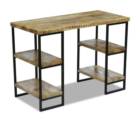 "vidaXL Office Desk Mango Wood 43.3""x19.7""x30""[2/8]"
