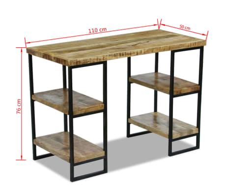 "vidaXL Office Desk Mango Wood 43.3""x19.7""x30""[8/8]"