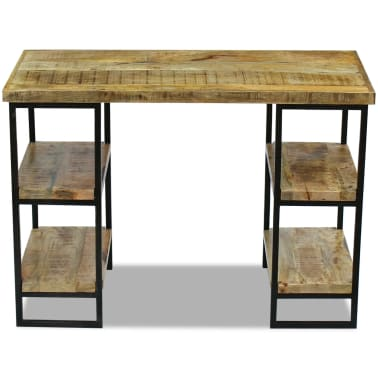 "vidaXL Office Desk Mango Wood 43.3""x19.7""x30""[6/8]"