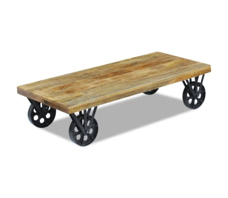 vidaXL Coffee Table Mango Wood 120x60x30 cm