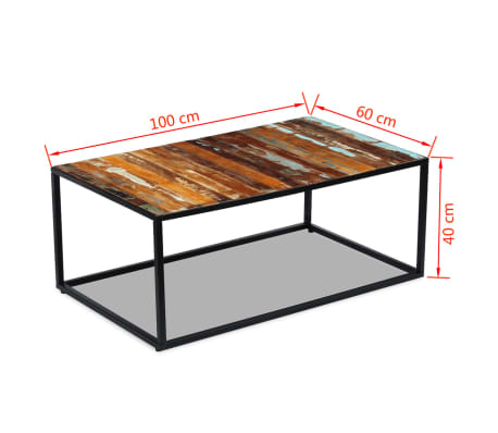 "vidaXL Coffee Table Solid Reclaimed Wood 39.4""x23.6""x15.7""[8/8]"