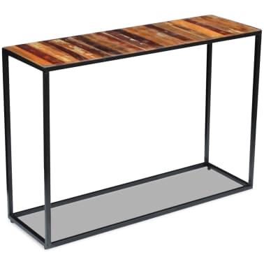 vidaXL Konsolinis staliukas, masyvi perdirbta mediena, 110x35x76 cm[2/8]