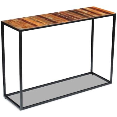 vidaXL Konsolinis staliukas, masyvi perdirbta mediena, 110x35x76 cm[5/8]