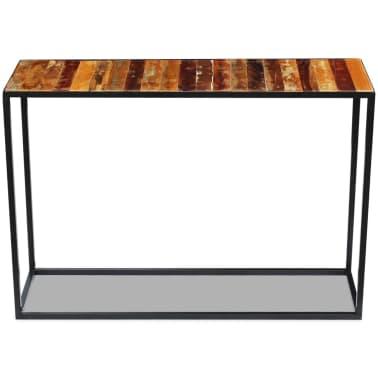 vidaXL Konsolinis staliukas, masyvi perdirbta mediena, 110x35x76 cm[6/8]
