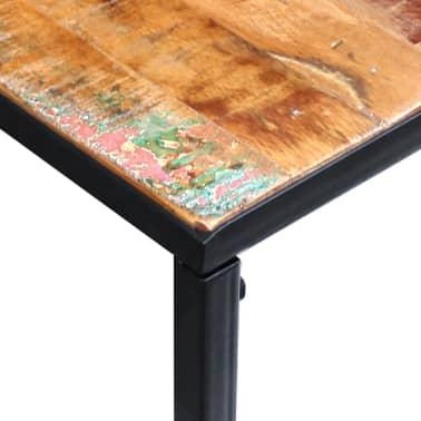 vidaXL Konsolinis staliukas, masyvi perdirbta mediena, 110x35x76 cm[7/8]