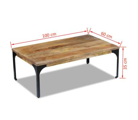 X 100 Bois Manguier Basse De Table 35 60 Vidaxl Cm n8mwv0NO