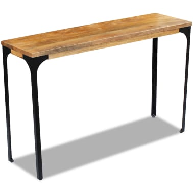 vidaXL Console Table Mango Wood 120x35x76 cm[2/8]