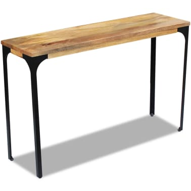 vidaXL Console Table Mango Wood 120x35x76 cm[3/8]