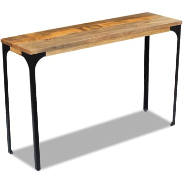 vidaXL Console Table Mango Wood 120x35x76 cm[4/8]