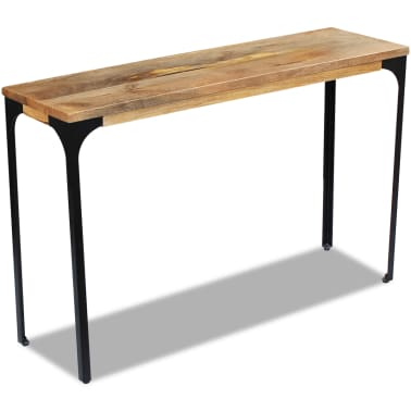 vidaXL Console Table Mango Wood 120x35x76 cm[5/8]