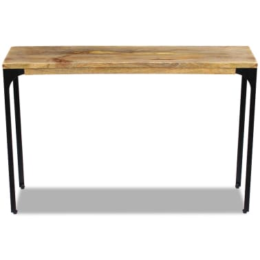vidaXL Console Table Mango Wood 120x35x76 cm[6/8]