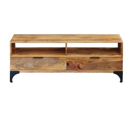 vidaXL TV Stand Mango Wood 120x35x45 cm[2/9]