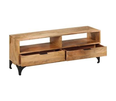 vidaXL TV Stand Mango Wood 120x35x45 cm[3/9]