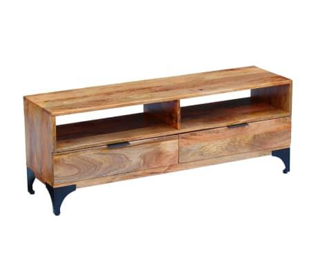 vidaXL TV Stand Mango Wood 120x35x45 cm[9/9]