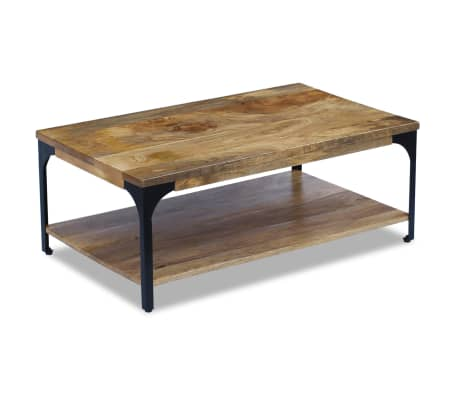 "vidaXL Coffee Table Mango Wood 39.4""x23.6""x15""[2/7]"