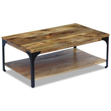 "vidaXL Coffee Table Mango Wood 39.4""x23.6""x15""[5/7]"