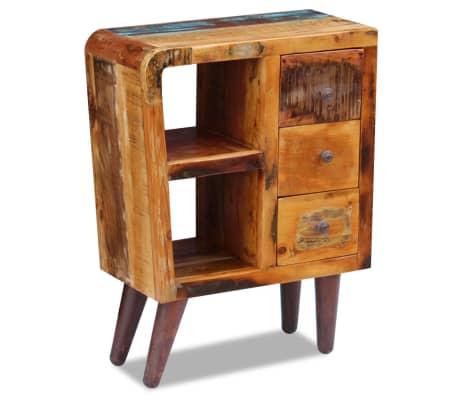 """vidaXL Sideboard Solid Reclaimed Wood 23.6""""x11.8""""x31.5""""[4/8]"""