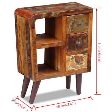 """vidaXL Sideboard Solid Reclaimed Wood 23.6""""x11.8""""x31.5""""[8/8]"""