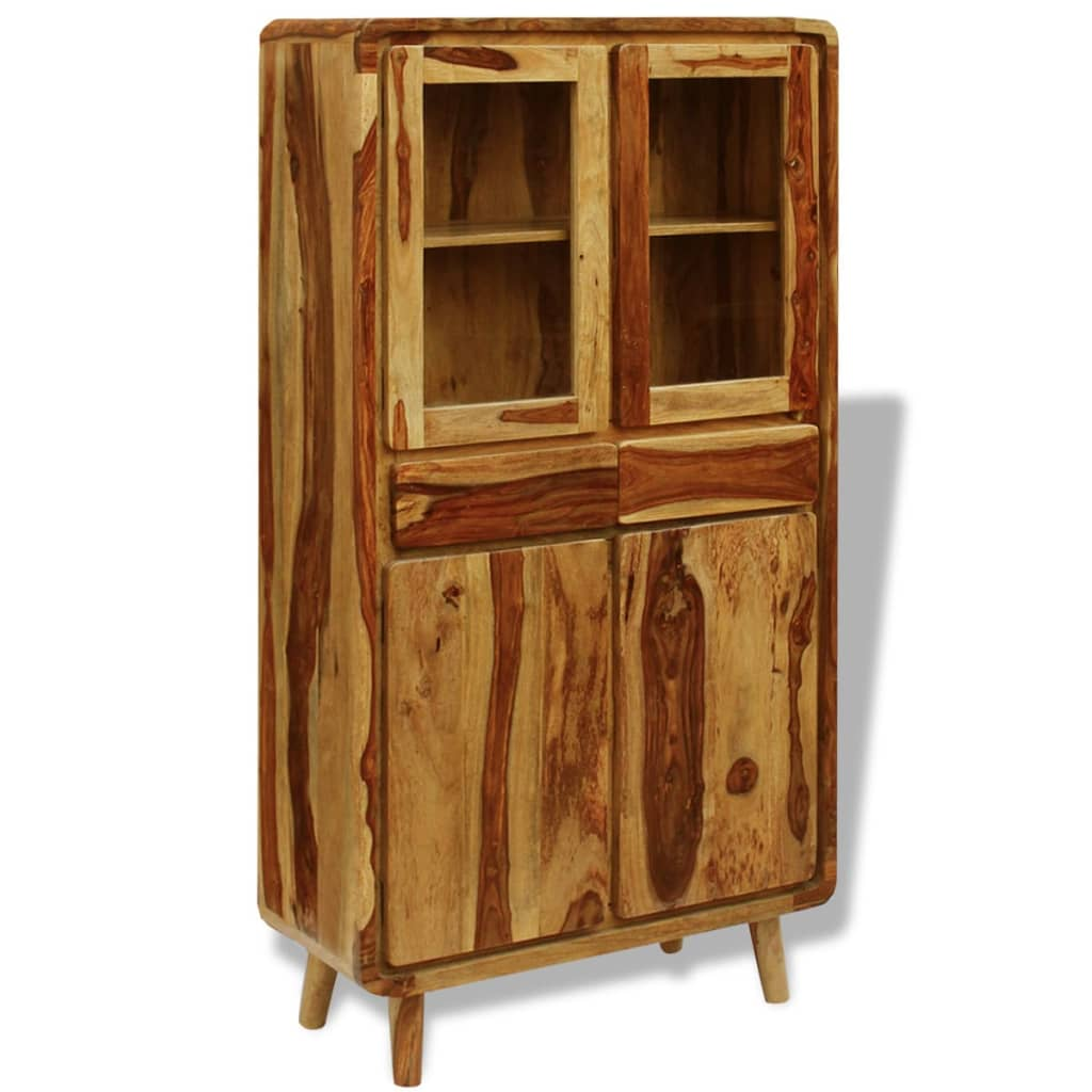 vidaXL Bufet din lemn masiv de sheesham, 90 x 40 x 175 cm poza vidaxl.ro