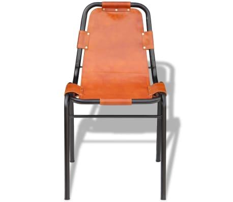 Vidaxl set 2 sedie sala da pranzo 59x44x89 cm in vera for Sedie per sala da pranzo in pelle