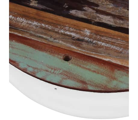vidaXL Two Piece Bowl Shaped Coffee Table Set Solid Reclaimed Wood[7/8]