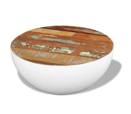 vidaXL Dubens formos kavos staliukas, perdirbta mediena, 60x60x30 cm[1/6]
