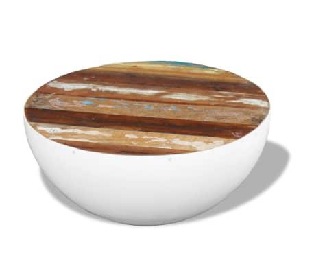 vidaXL Dubens formos kavos staliukas, perdirbta mediena, 60x60x30 cm[5/6]