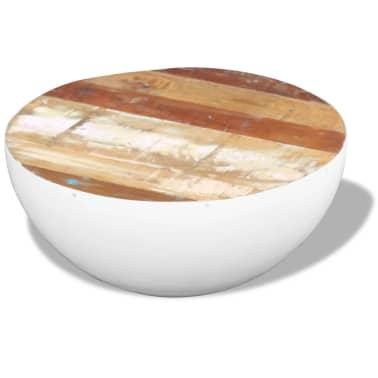 vidaXL Dubens formos kavos staliukas, perdirbta mediena, 60x60x30 cm[2/6]