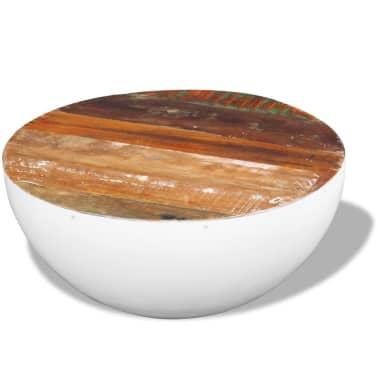 vidaXL Dubens formos kavos staliukas, perdirbta mediena, 60x60x30 cm[3/6]